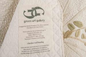 Label on back of quilt