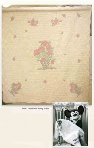 Cindy's Rose, a shadow trapunto quilt
