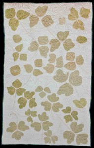 Bettye Kimbrell pounded kudzu leaves to make this wall-hanging.